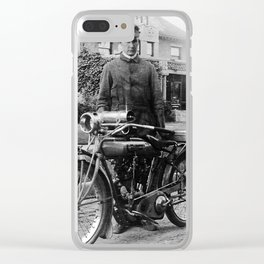Grandpa's Cyclone Motercycle Clear iPhone Case