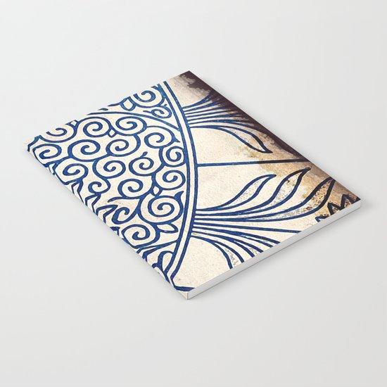 Blue Oriental Vintage Tile 01 Notebook
