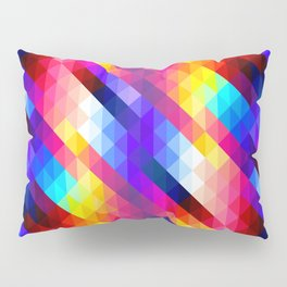 Abstract Colorful Decorative Squares Pattern Pillow Sham