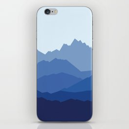 Blue Mountain range iPhone Skin