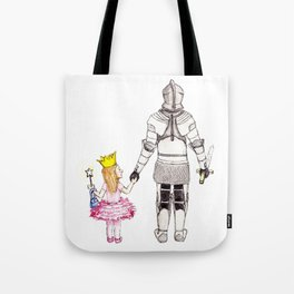 The Princess and her Knight Tote Bag