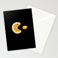 Funny Lemon Eats lemon Stationery Cards