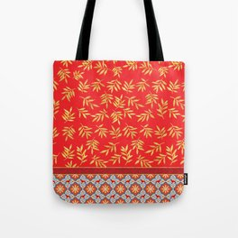 RED WEIMS AND GOLD LEAVES Tote Bag