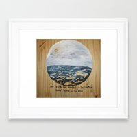 salt water Framed Art Prints featuring Salt Water by Maura Hartzman