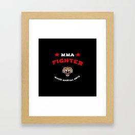 MMA Fighter Tiger Framed Art Print