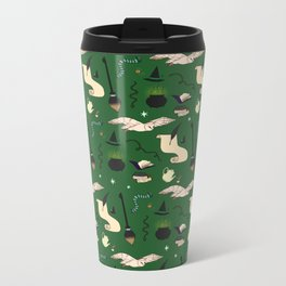 Slytherin Pattern Metal Travel Mug