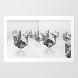 News Cubes 3 Art Print