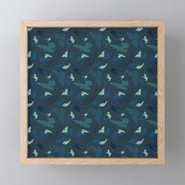 Bird Camouflage at Midnight Framed Mini Art Print