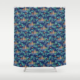 Jungle Jacuzzi Pattern Shower Curtain