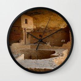 Balcony House View - Mesa Verde Wall Clock