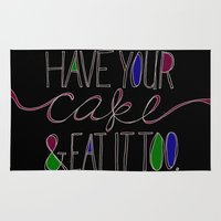 cake Area & Throw Rugs featuring Cake by Krysti Kalkman