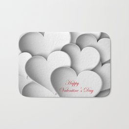 background paper hearts Bath Mat