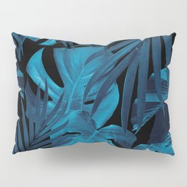 Tropical Jungle Night Leaves Pattern #2 #tropical #decor #art #society6 Pillow Sham