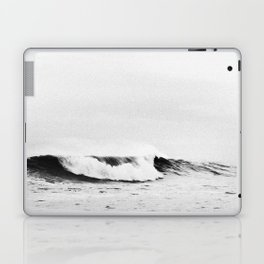 Minimalist Black and White Ocean Wave Photograph Laptop & iPad Skin