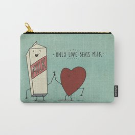 only love beats milk Carry-All Pouch