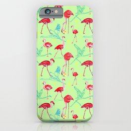 Anything goes - Flamingoes iPhone Case