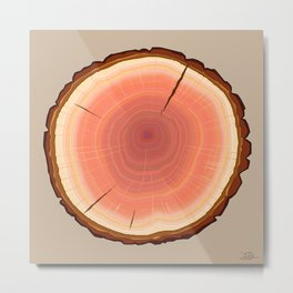 Humboldt Redwood Log Metal Print