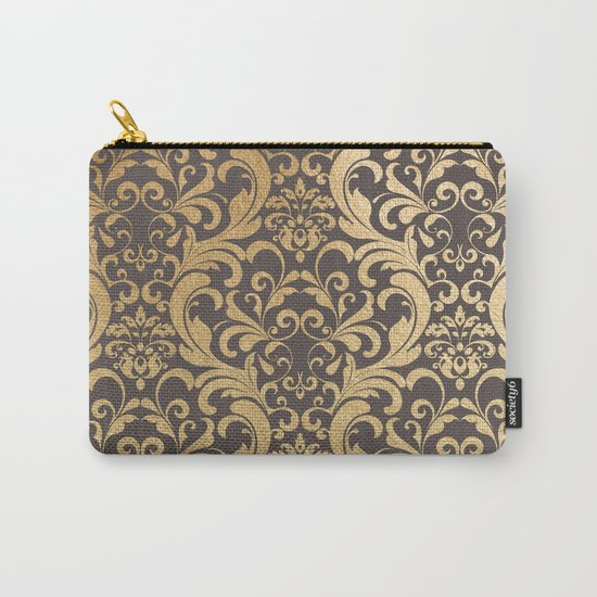 Gold swirls damask #1 Carry-All Pouch