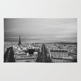 Black and White Paris Rug