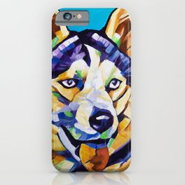 Pop Art Husky iPhone Case
