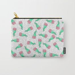 Watercolor Retro Strawberry Hard Candy Pattern Carry-All Pouch