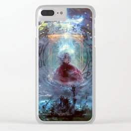 Uncontainable necromancer Clear iPhone Case