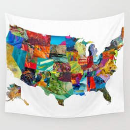 USA Map Wall Tapestry