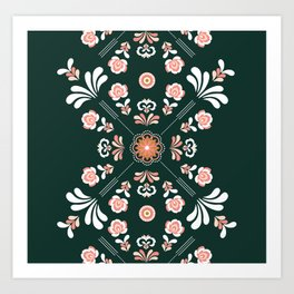 Scandi Vector Embroidery Art Print
