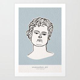 Manneken Pis sculpture Art Print