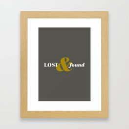 17 Lost and found Framed Art Print