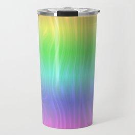 Groovy Pastel Rainbow Travel Mug
