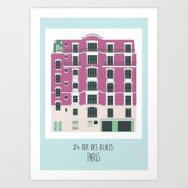 24 rue des Bluets Paris Art Print