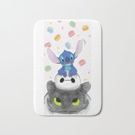 Baby Toothless Dragon and Stitch Bath Mat