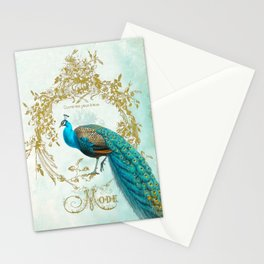 Peacock Mode Stationery Cards
