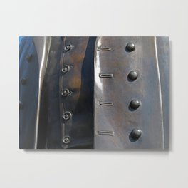 Buttoned, Unbuttoned  Metal Print
