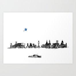 Liverpool city Art Print