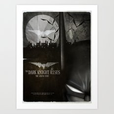 dark knight rises movie fan poster Art Print