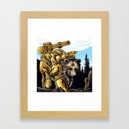 Golden Bearborg Framed Art Print