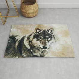 Timber Wolf Rug