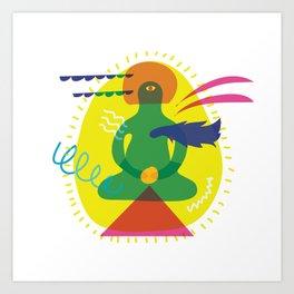 Swim through infinite skies Art Print