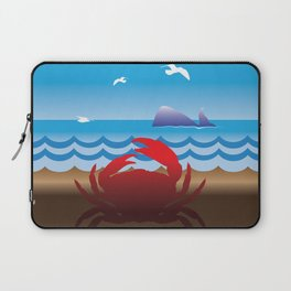 Crab Whale Watch Laptop Sleeve