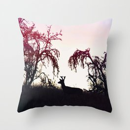Silhouette Game Strong Throw Pillow