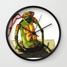 Tortue ninja PIZZA Wall Clock
