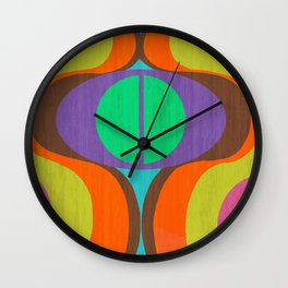 Mod Eyes In The Wood Wall Clock