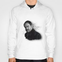 crowley Hoodies featuring Supernatural - Crowley The King of Hell ! by firatbilal