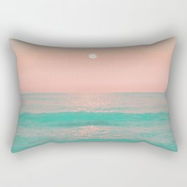 Light Pink Turquoise Waters Rectangular Pillow