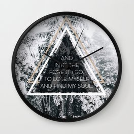 Into the forest I go Wall Clock