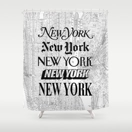 New York City black and white New York poster I love heart NYC Design black-white home wall decor Shower Curtain