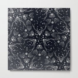 Arctic geometric dark Metal Print