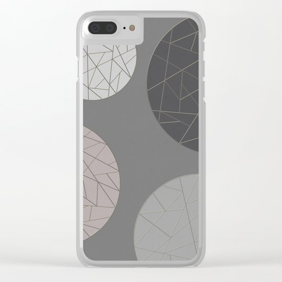 BROKEN (abstract geometric) Clear iPhone Case